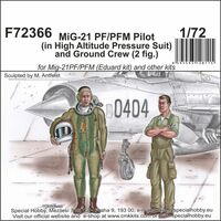 MiG-21 PF/PFM Pilot (in High Altitude Pressure Suit) and Ground Crew (2 fig.)