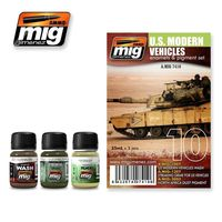 A.MIG 7410 US Modern Vehicles - Enamels & Pigment Set