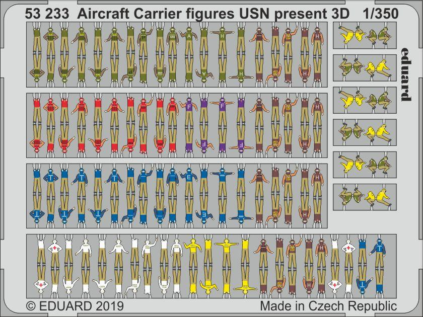 Aircraft Carrier figures USN present 3D  - Image 1