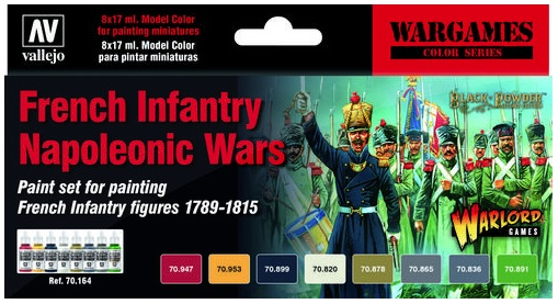 French Infantry Napoleonic Wars Paint Set (6)