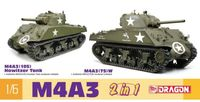 M4A3 (105) Howitzer Tank / M4A3 (75) W - 2 in 1