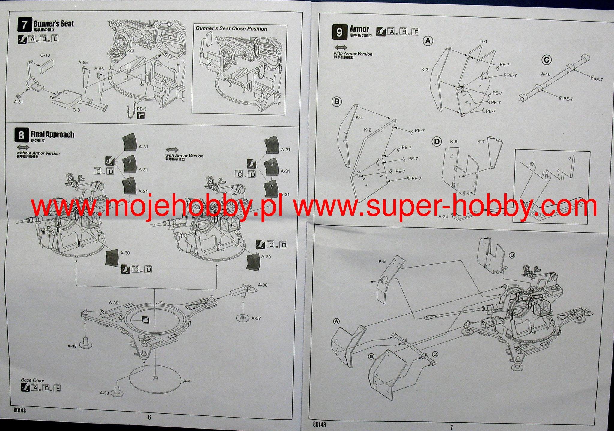 Neu Hobbyboss 80148-1:35 2cm Flak38 Late Version//Sd Ah 51