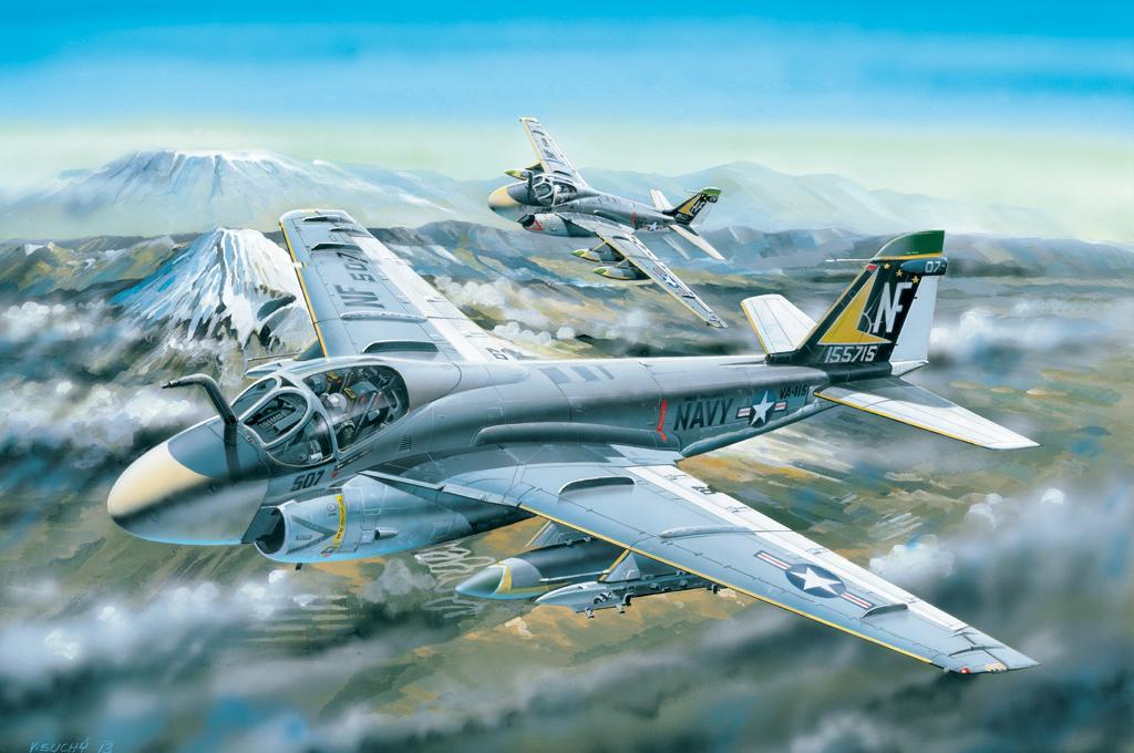 Montex 1//48 Grumman A-6E Intruder Paint Mask for HobbyBoss kit
