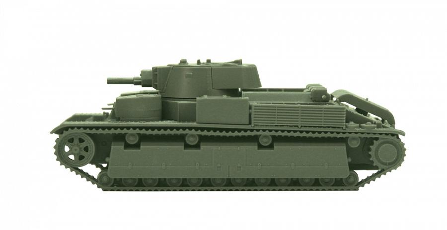 1936-1940 WW II Zvezda #6247-1:100 Soviet Medium Tank T-28 mod