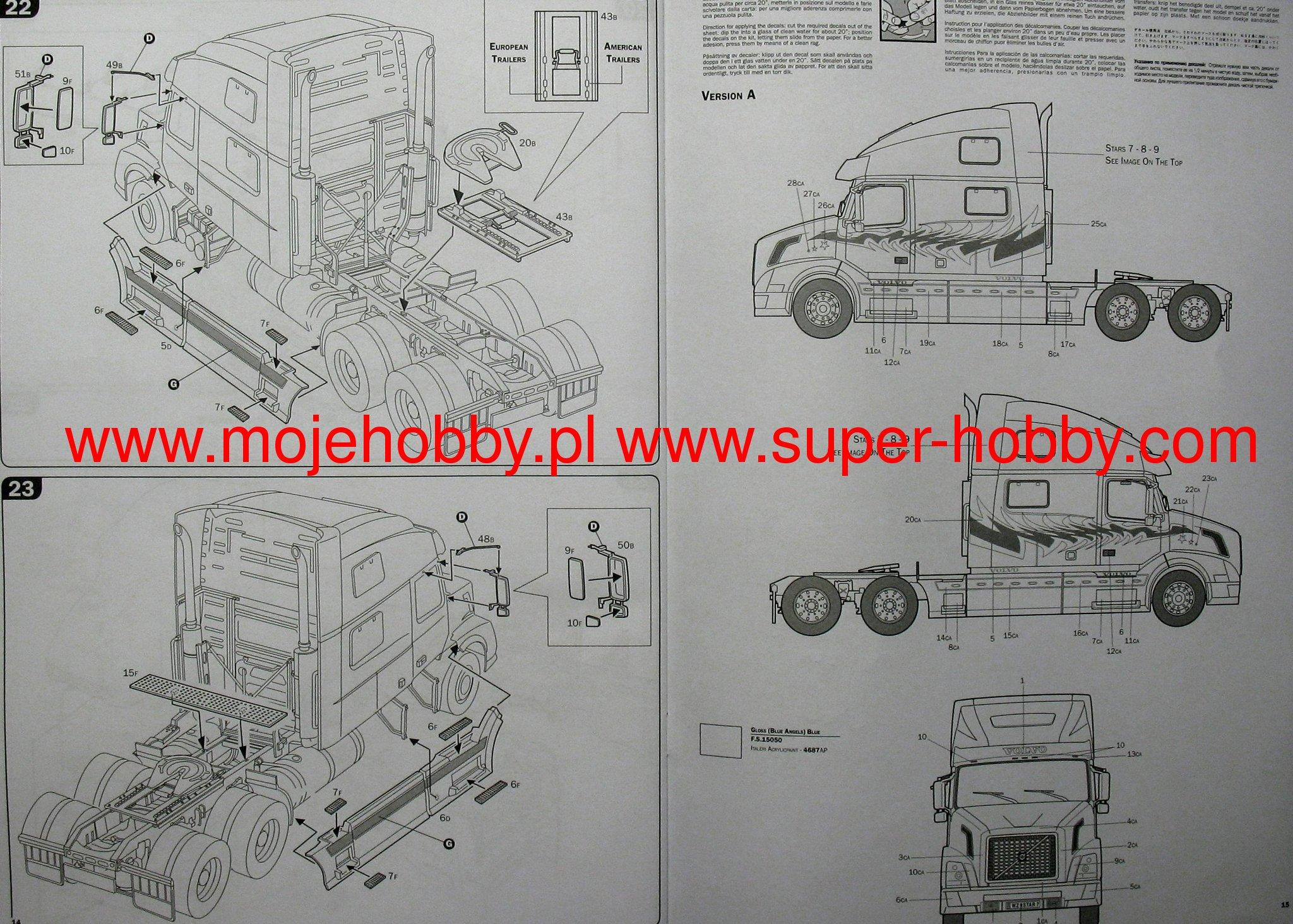 Volvo Vn 780 Italeri 3892 Wiring Schematic 2013 2 Ita1892 8