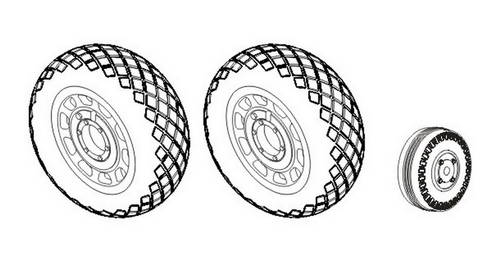 P-51D Mustang - Wheels 1/32 (Diamond Tread Pattern) for Dragon/Tamiya/Trumpeter - Image 1