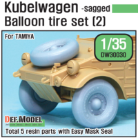 German VW Desert type Wheel set 2 (for Tamiya 1/35) - Image 1