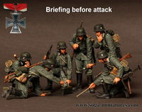 Briefing before attack 6 figures
