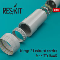 Mirage F.1 exhaust nozzles for KITTY HAWK KIT