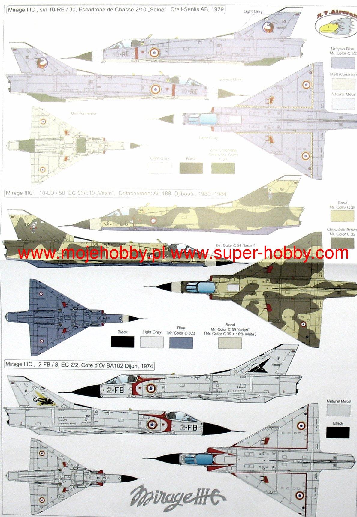 Mirage Iii Diagram Custom Wiring Mitsubishi Engine Cj R V Aircraft 72049 Rh Super Hobby Com 2001 Desert
