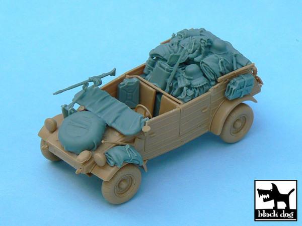 Kübelwagen accessories set for Tamiya 32503, 26 resin parts