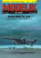 Focke-Wulf Ta 154 German fighter WWII