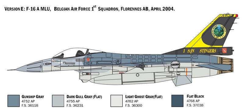 Italeri 1//48 Lockheed Martin F-16A Fighting Falcon # 2786