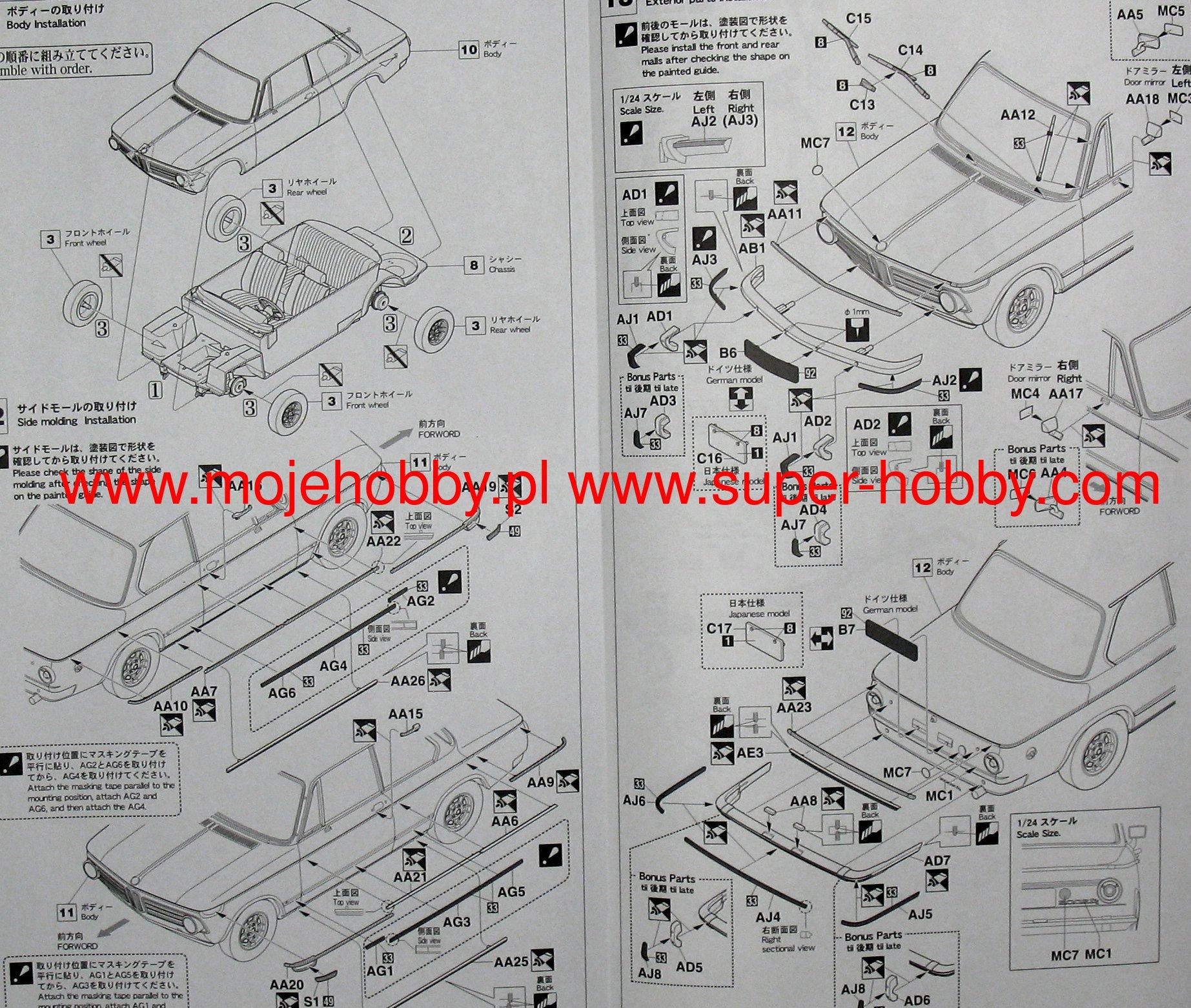 Bmw 2002 Tii 1971 Hasegawa Hc23 Wiring Diagram 2 Hashc23 5
