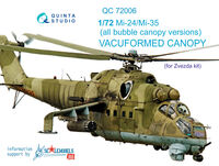 Mi-24/35 all bubble-version vacuformed clear canopy - Image 1