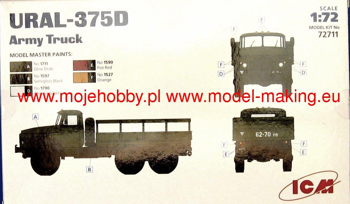 ICM 1//72 URAL-375D Army Truck # 72711