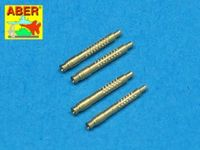 Set of 4 German barrel tips for 13 mm MG 131 aircraft machine gun