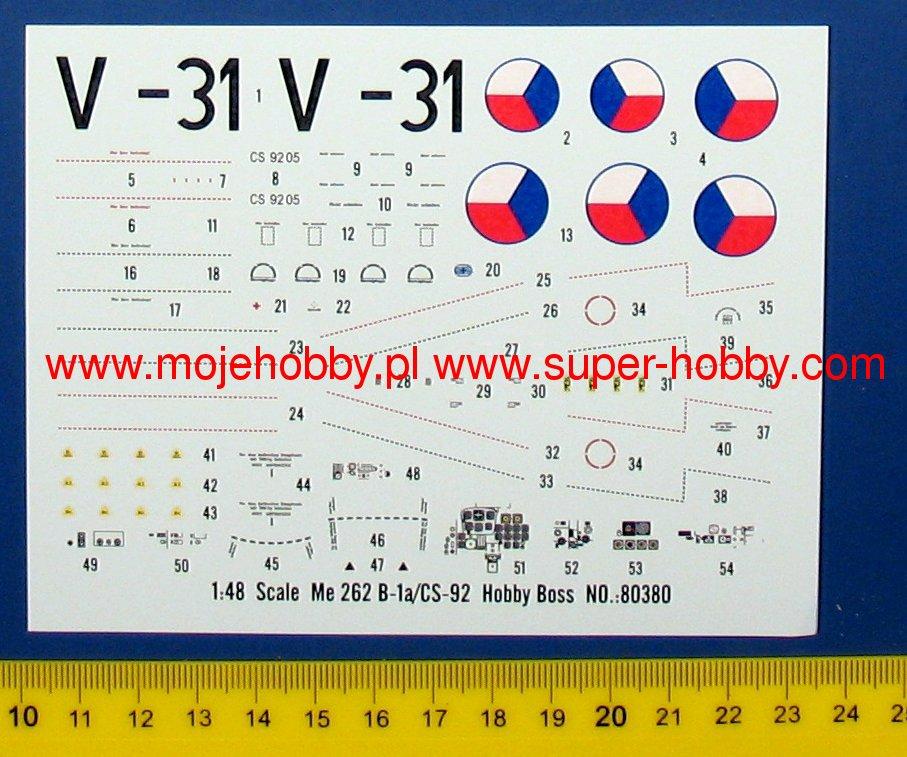 Hobby Boss 1//48 80380 Messerschmitt Me262B-1a//CS-92 model kit