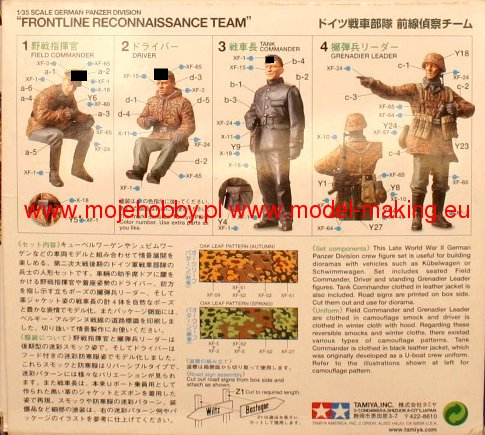 Tamiya 35253 1//35 German Panzer Division /'Frontline Reconnaissance Team