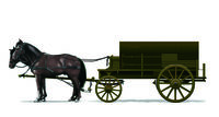 Horses-Drawn Ammunition Supply Wagon ( German Type)