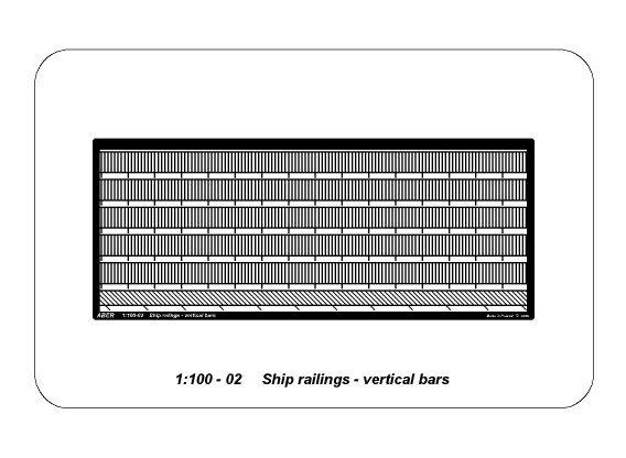 1//100 Aber SHIP RAILINGS VERTICAL BARS