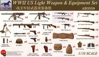 WWII US Light Weapon and Equipment Set