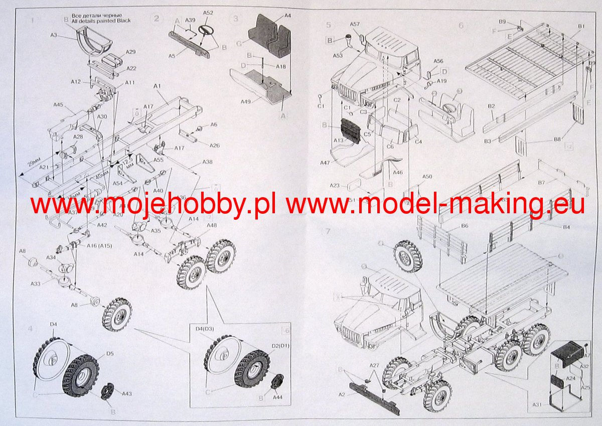 Ural 4320 Army Truck Icm 72611 Engine Diagram 2 Icm72611 3