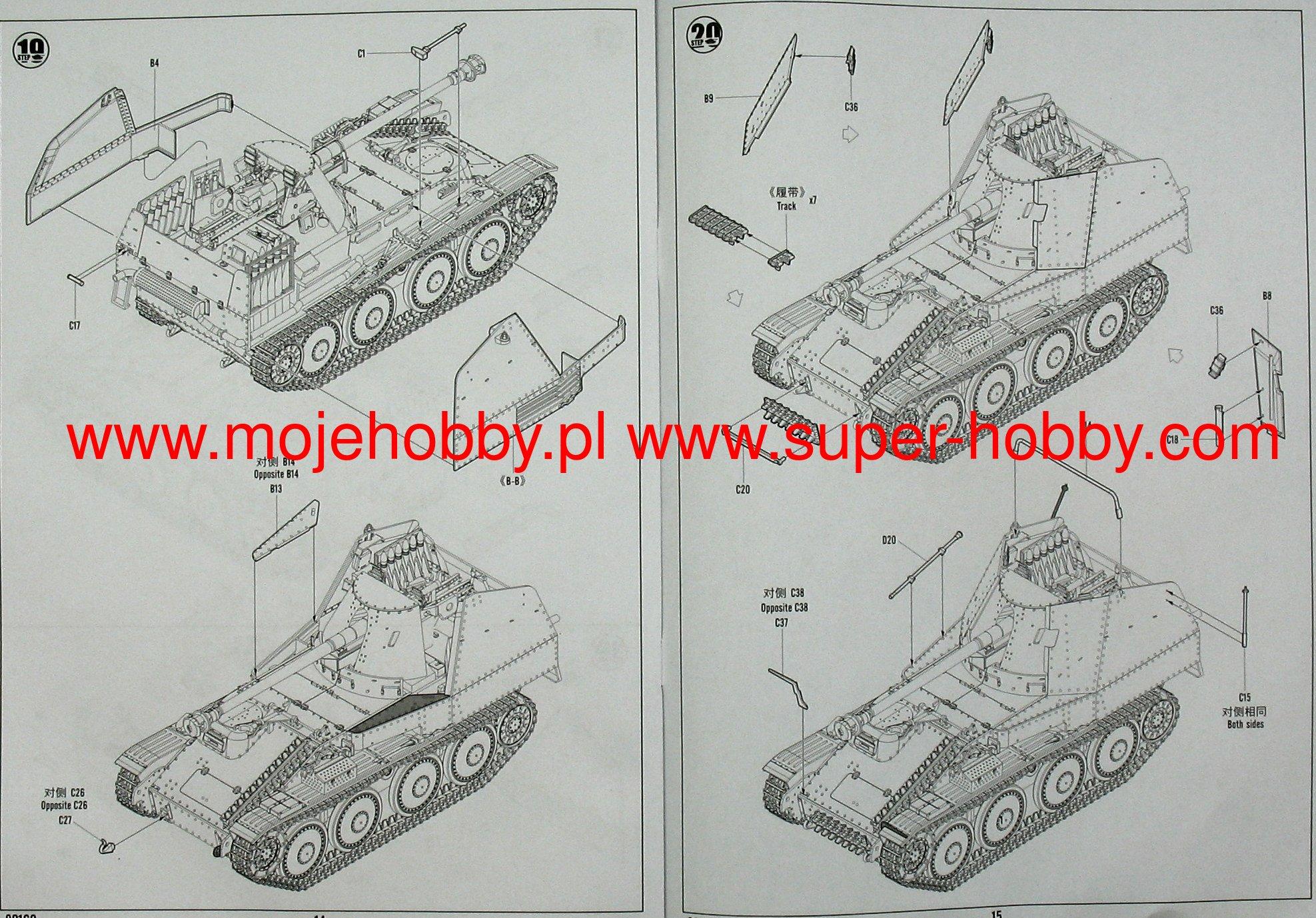 M SD K mod/èle Kit Hobby Boss 380169/1//35/Marder III Ausf