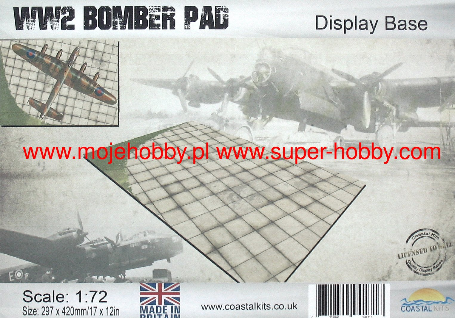 Coastal Kits 1:72 Scale Bomber Pad Display Base