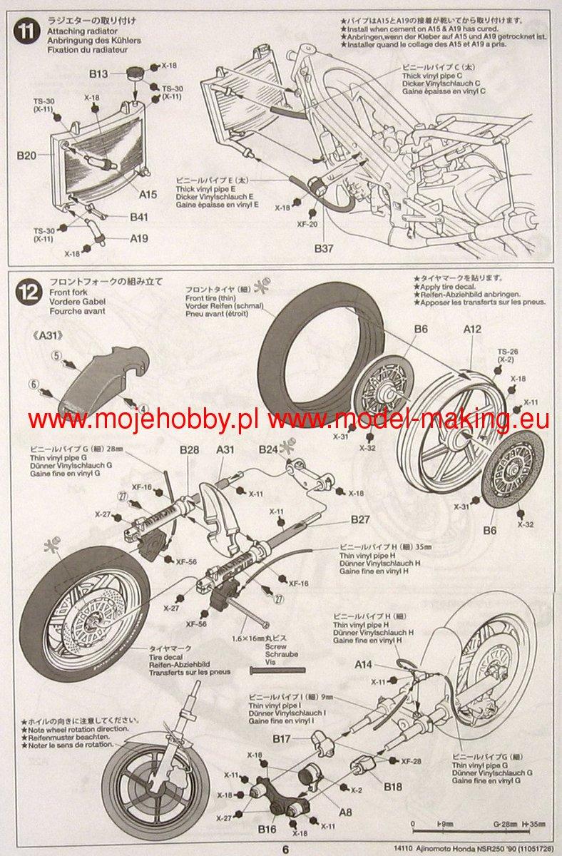 Ajinomoto Honda Nsr250 90 Tamiya 14110 Nsr 250 Wiring Diagram 2 Tam14110 4