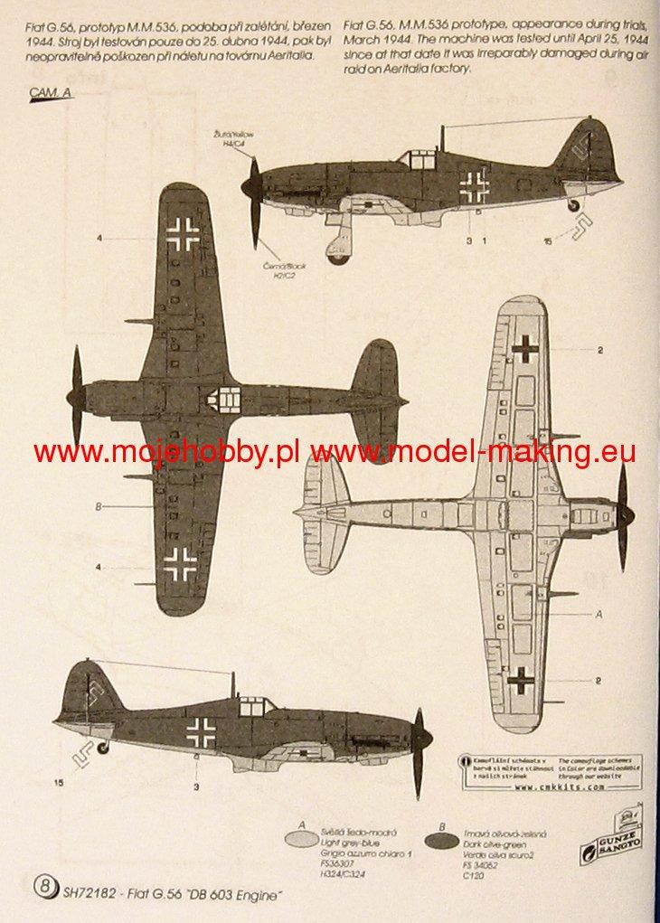SPECIAL HOBBY 1//72 FIAT prototype G.56 avec moteur DB603 # 72182