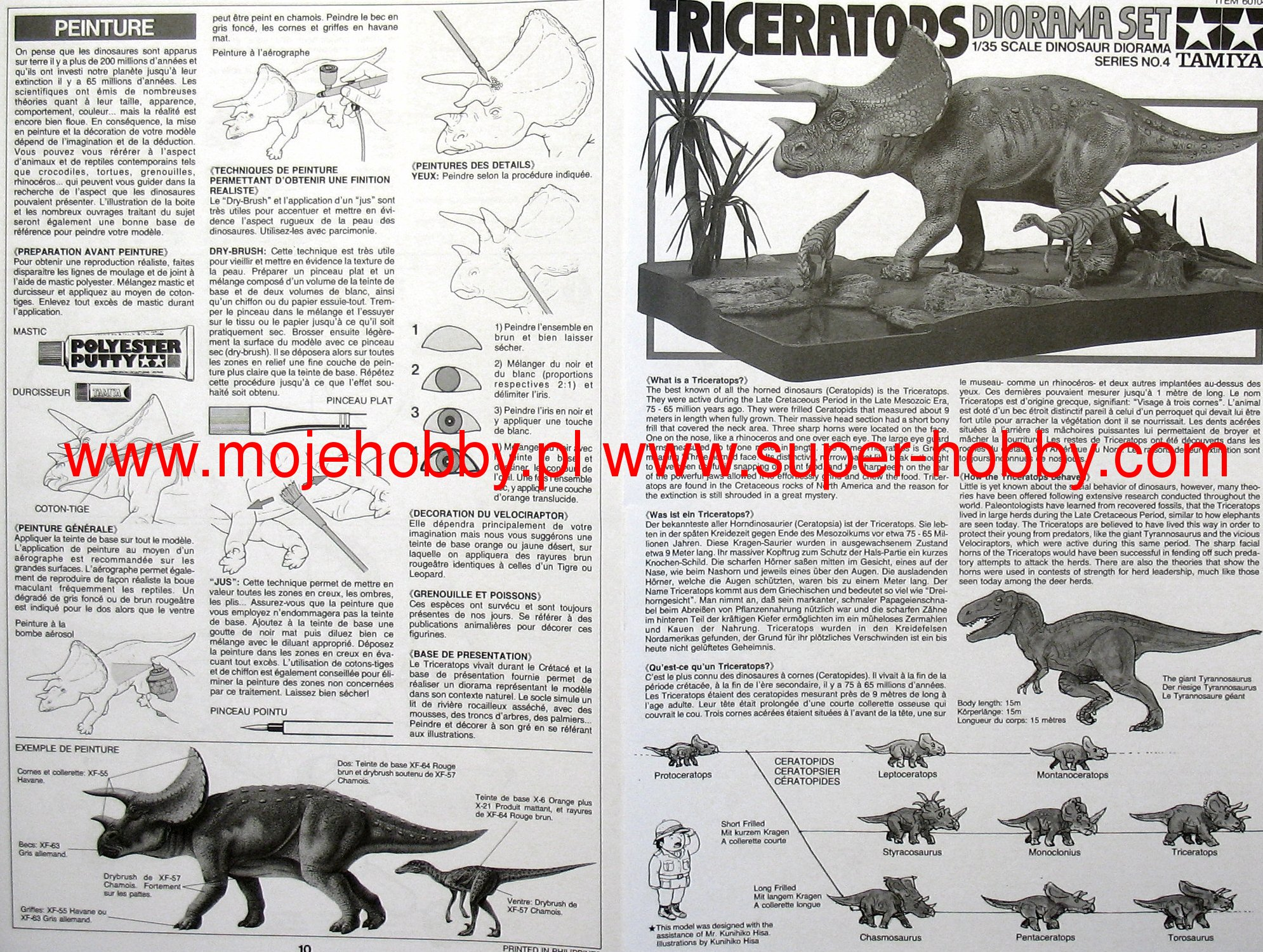 Tamiya Triceratops Eurycephalus 1//35