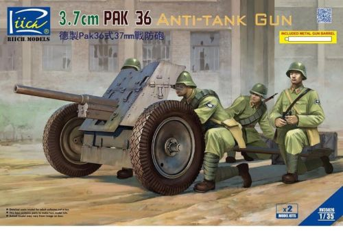 German 50 Mm Anti Tank Gun: 3,7 Cm PaK 36 Anti-Tank Gun Riich.Models -RV35026