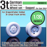 German 3t Cargo truck Wheel set (for Dragon 1/35) - Image 1