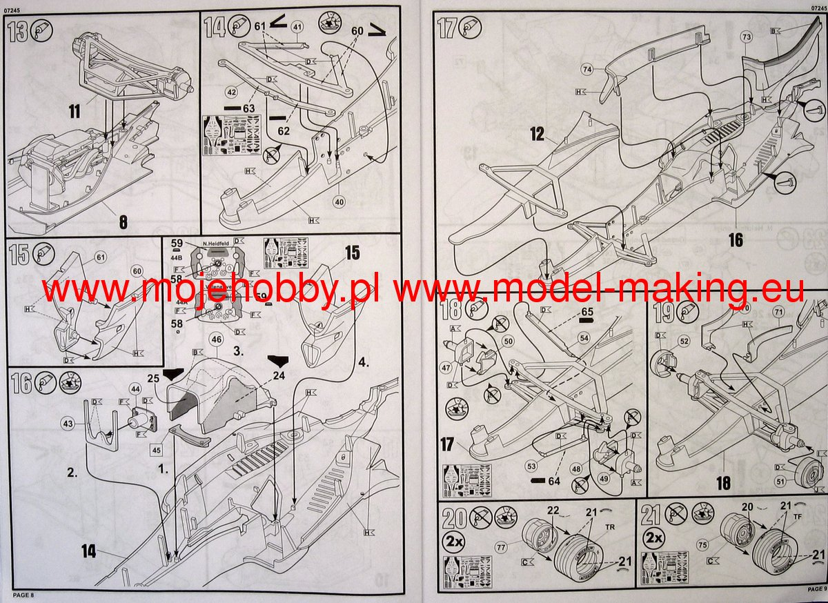Bmw Sauber F106 Revell 67245 F1 Engine Diagram 2 Rev7245 5