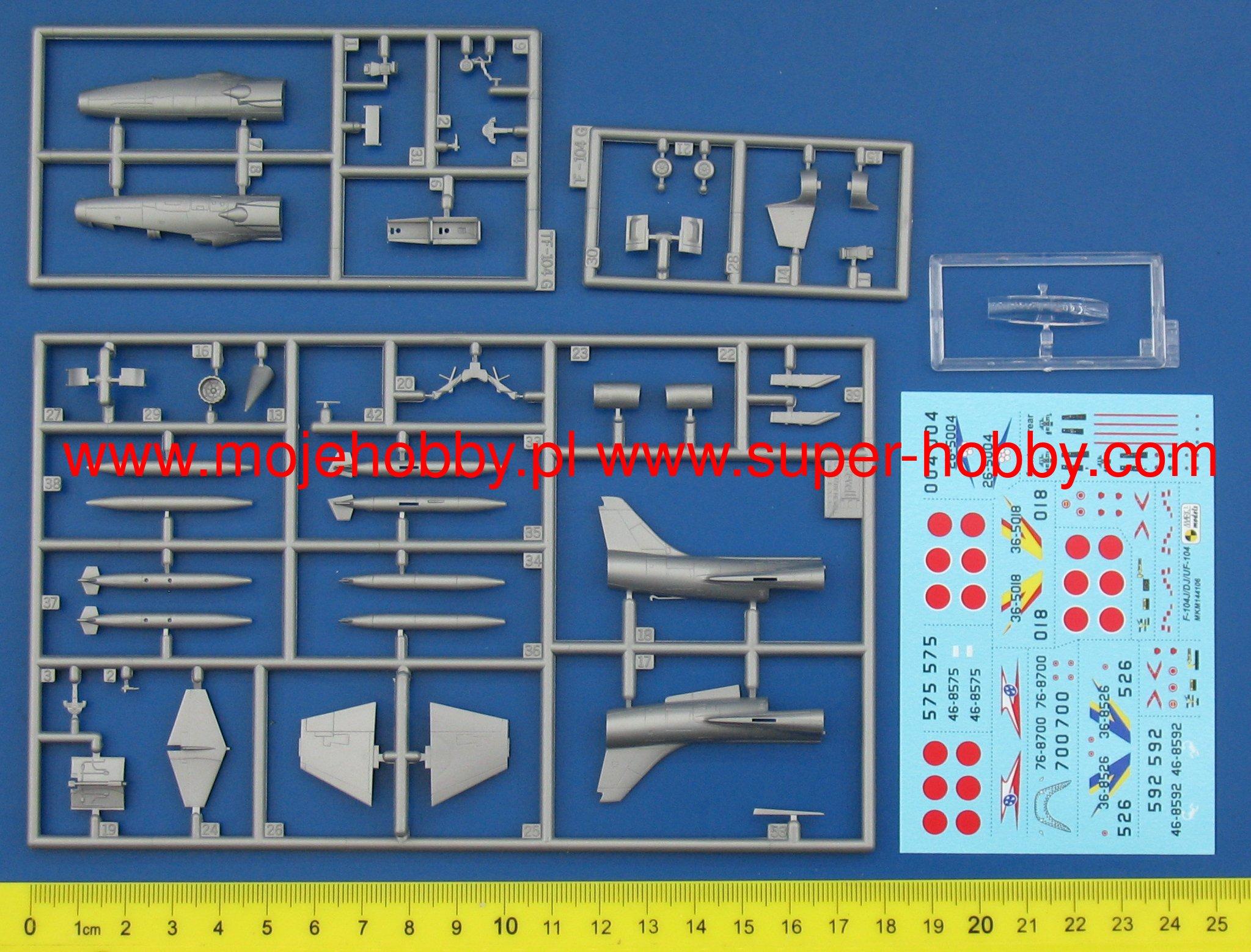 Dj Starfighter Eiko Japan Mark i models 1//144 Set 144106 Lockheed F-104J