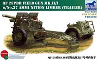 British QF 25pdr Field Gun Mk.II/I with No.27 Ammunition Limber - Image 1