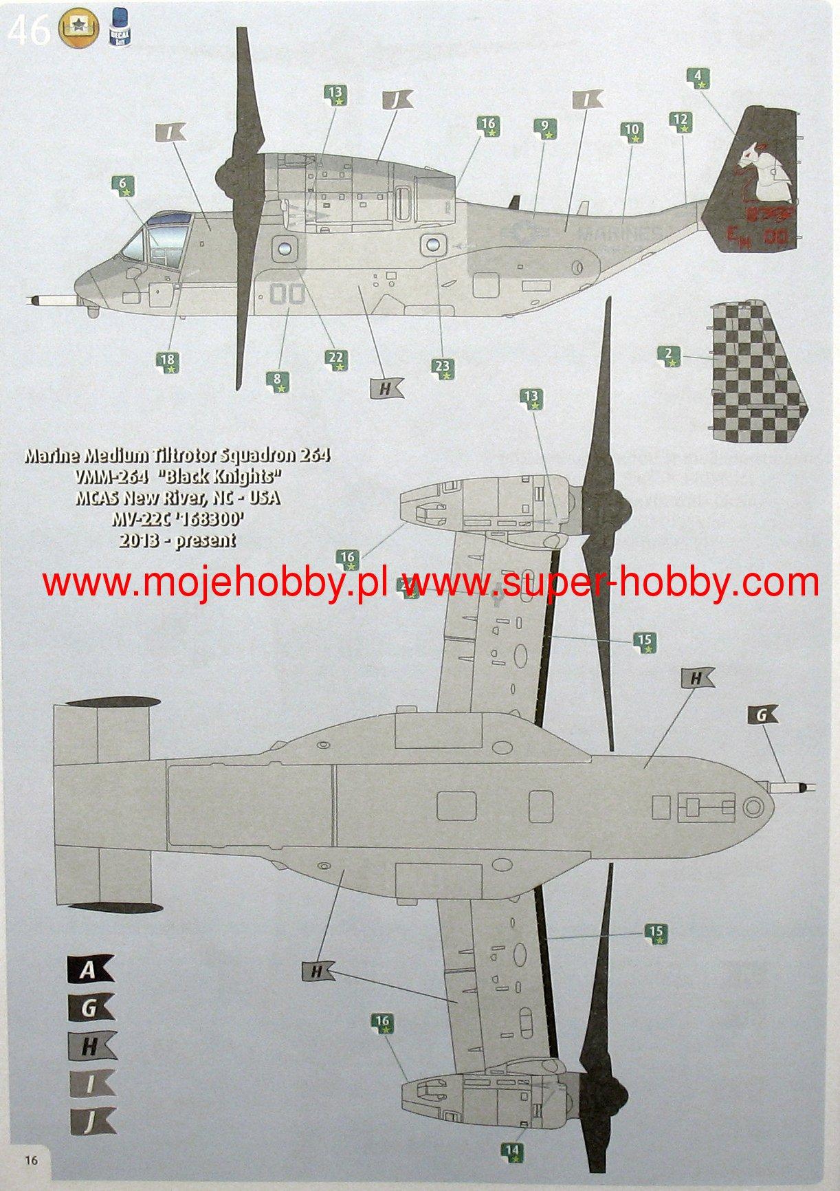 Bell V 22 Osprey Revell 03964 Engine Diagram 2 Rev03964 8 9