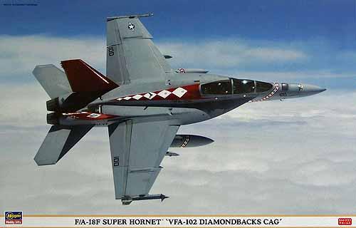 F/A-18F SUPER HORNET VFA-102 DIAMONDBACKS CAG Hasegawa 09802