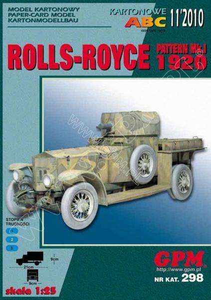 ROLLS-ROYCE PATTERN MK I 1920