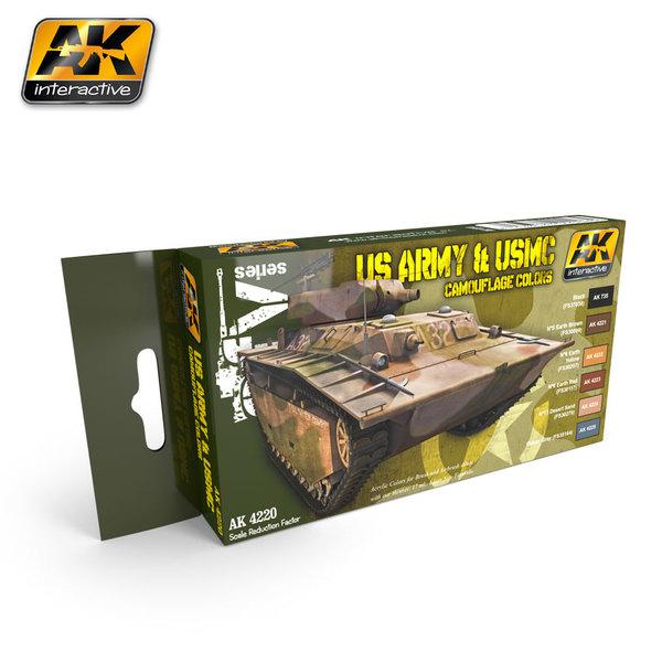 AK 4220 US Army & USMC Camouflage Colors Set