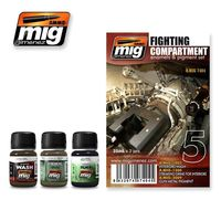 A.MIG 7404 Fighting Compartment - Enamels & Pigment Set