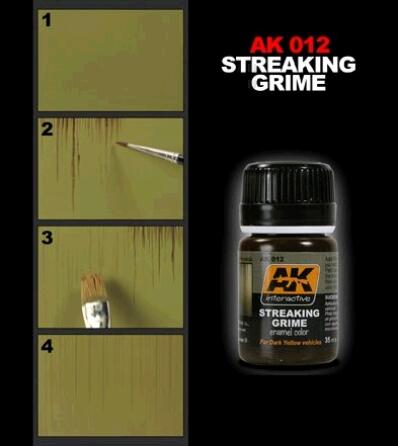 AK 012 Colature di Sporco Streaking Grime AK Interactive
