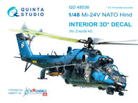 Mi-24V NATO (black panels)  3D-Printed & coloured Interior on decal paper - Image 1