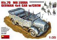 German Kfz.70  MB 1500A 4x4 car with Crew