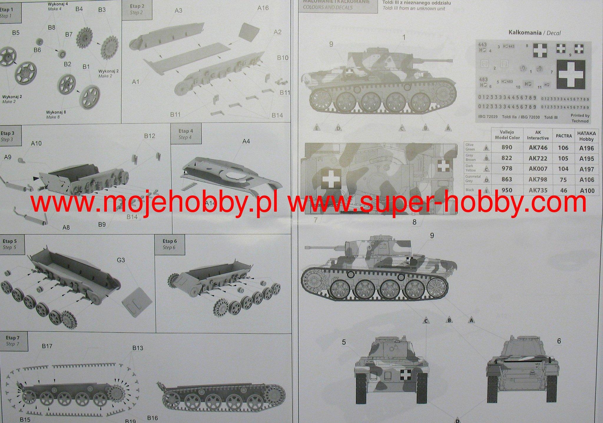 IBG 1//72 Toldi III Hungarian Light Tank # 72030