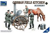 German field kitchen w/soldiers