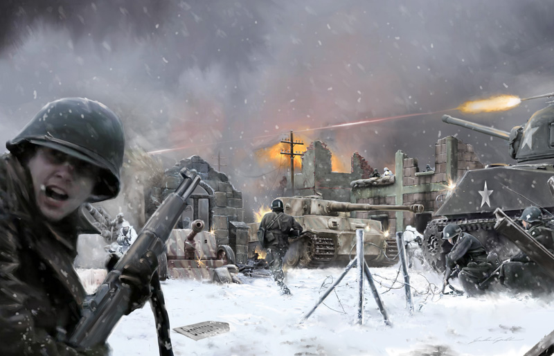 BASTOGNE December 1944 DIORAMA SET - Image 1
