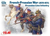 French-Prussian War, 1870-1871 Prussian line infantry