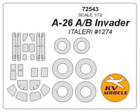 A-26 A/B Invader (ITALERI) + wheels masks - Image 1